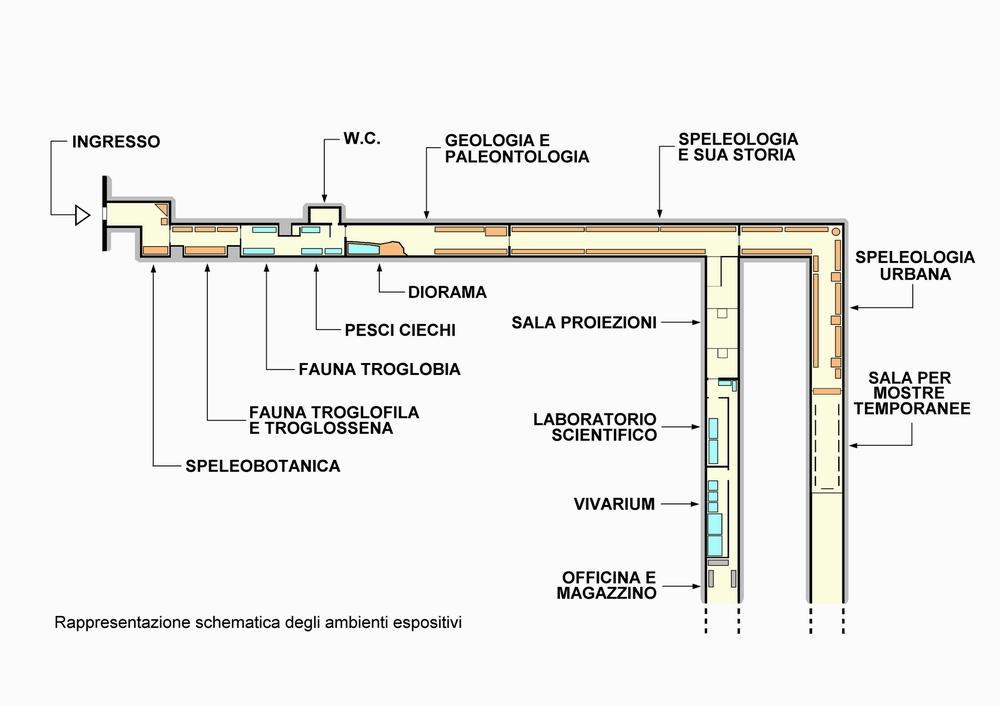 Mappa dello Speleovivarium di Trieste